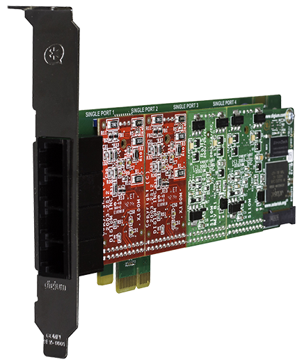 Digium 4-Port Analog Telephony Cards